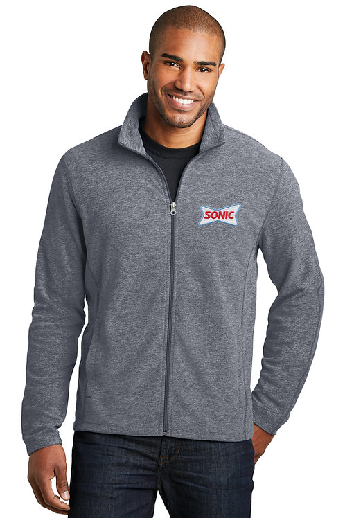F235 HEATHER FLEECE FULL ZIP JACKET