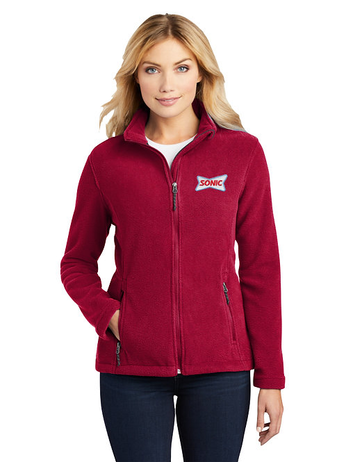 L217 LADIES PLUSH POLAR FLEECE FULL ZIP JACKET