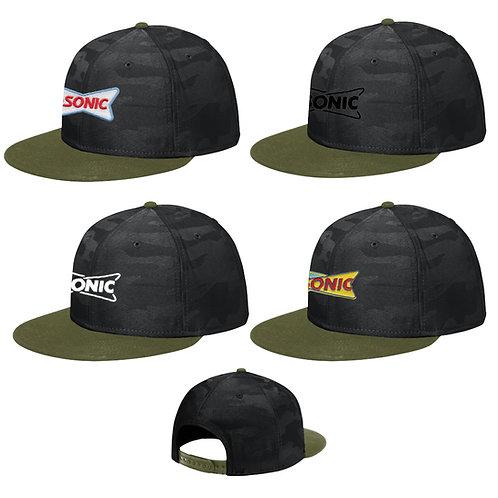 NE407 NEW ERA PRO TONAL CAMO FLAT BILL SNAP BACK CAP