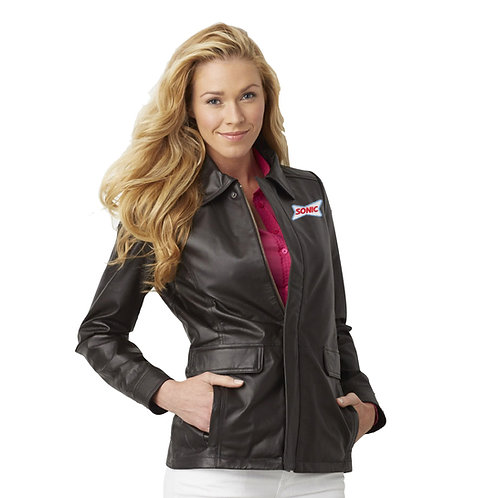BB9200 LADIES LEATHER FIELD HIPSTER JACKET