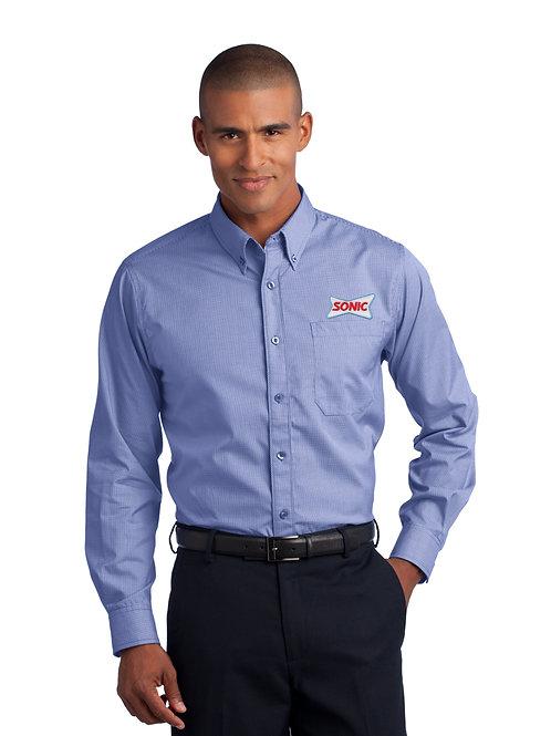 RH66 MENS MINI-CHECK DRESS SHIRT