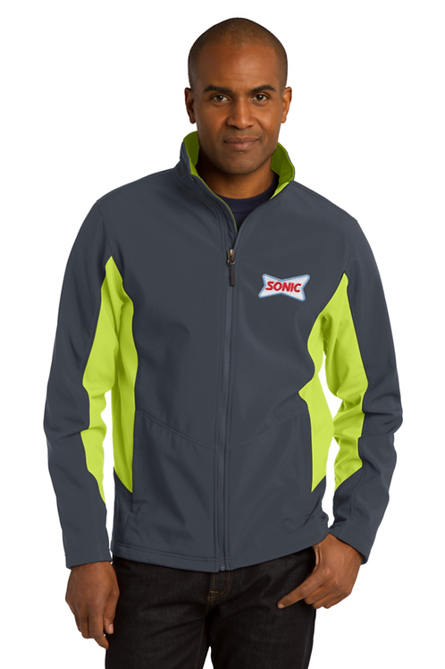 TLJ318 TALL COLOR BLOCK SOFTSHELL JACKET