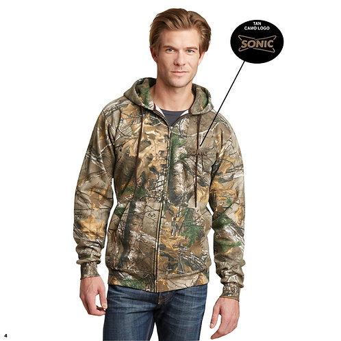 RO78ZH REALTREE® PRO FULL ZIP HOODED SWEATSHIRT