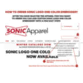 HOW TO ORDER SONIC ONE COLOR LOGO EMBROI