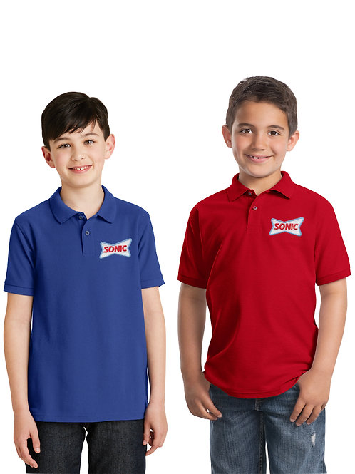 Y500 YOUTH  COTTON BLEND POLO