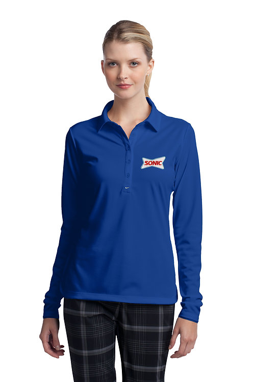 545322 LADIES DRI-FIT STRETCH TECH LS POLO