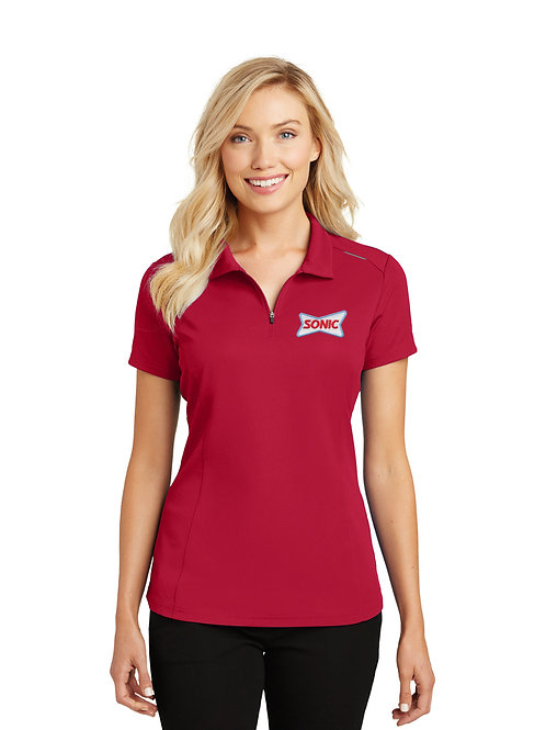 L580 PA LADIES PERFORMANCE PINPOINT MESH SONIC POLO