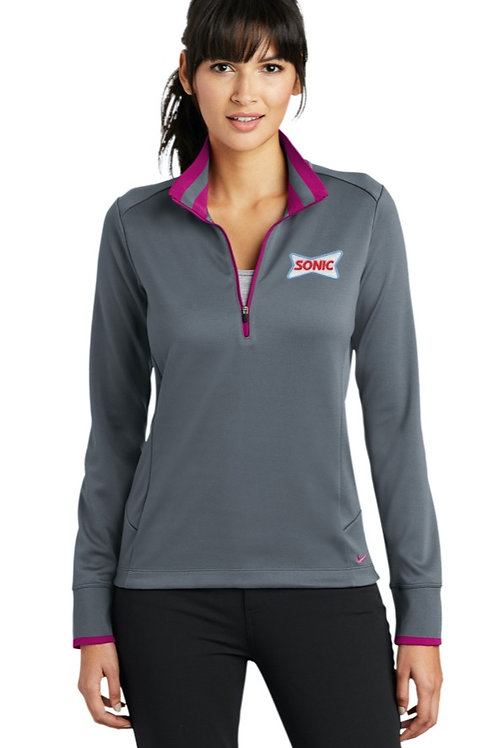 578674 LADIES NIKE DRI-FIT EDGE 1/2-ZIP COVER-UP