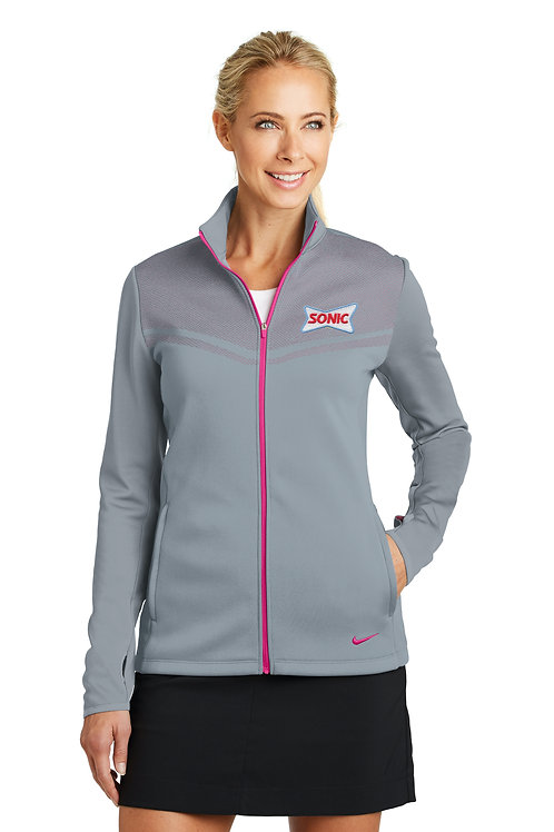 779804 LADIES NIKE THERMA-FIT HYPERVIS 1/2 ZIP COVERUP