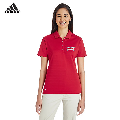 A262 ADIDAS LADIES SHADOW STRIPE SPORT POLO SHIRT