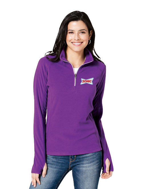 L224 LADIES MICROFLEECE 1/2 ZIP JACKET