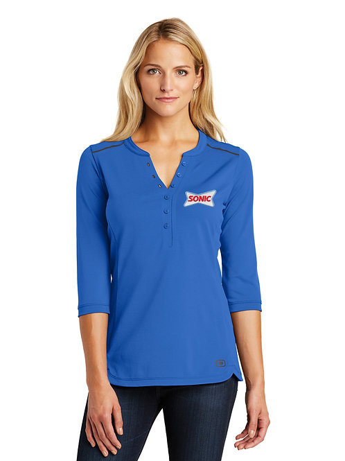 LOG132 OGIO LADIES FUSE HENLEY TOP
