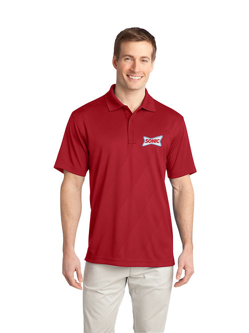 K548 PA PERFORMANCE TECH EMBOSSED SONIC POLO