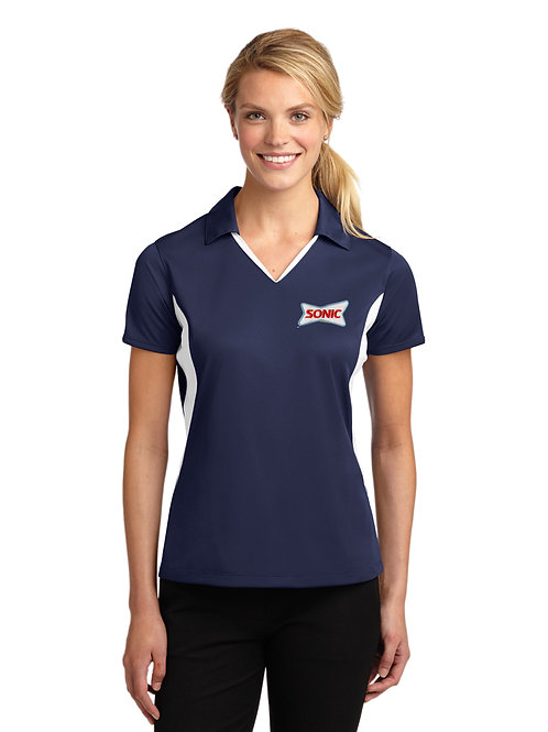 LST655 LADIES SIDE COLORBLOCK PERFORMANCE POLO