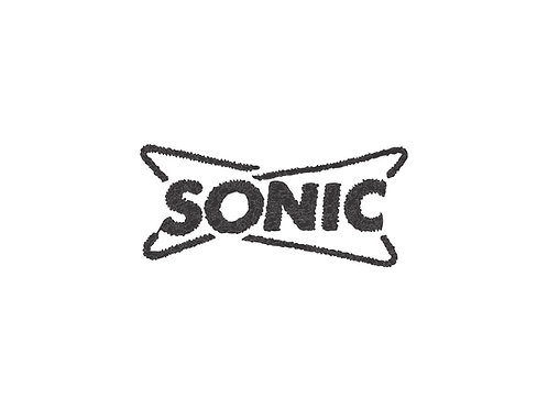 ONE COLOR SONIC LOGO EMBROIDERY