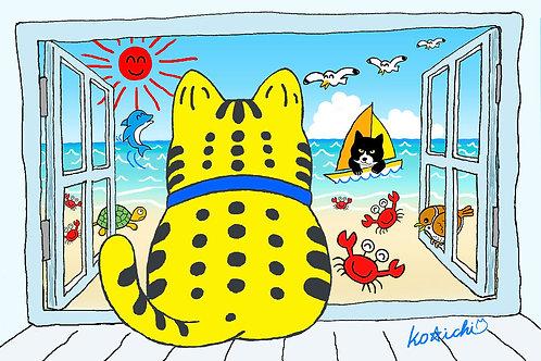 POSTCARD「ラッキーの夏(No.023)」5枚セット