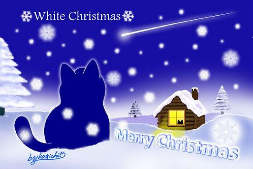POSTCARD「ホワイトクリスマス(No.080)」5枚セット