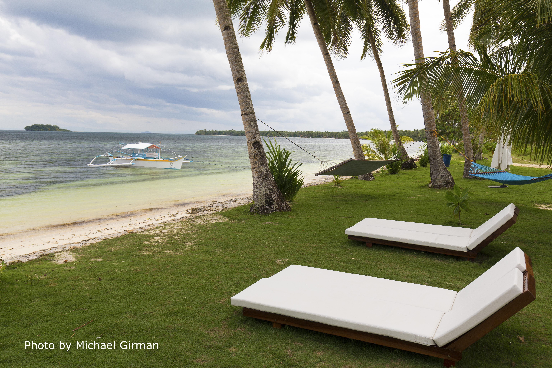 Beachside lounge area