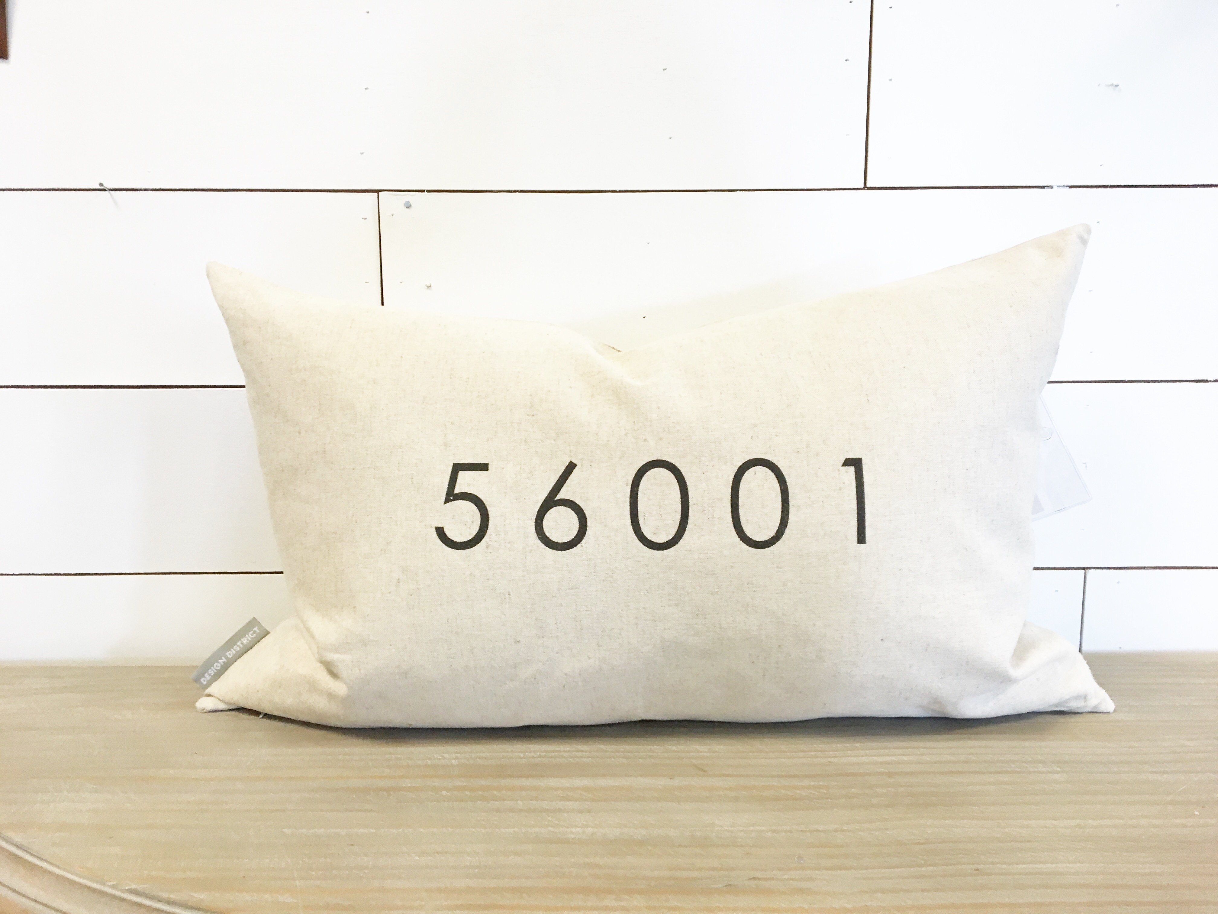 designdistrict   Personalized Zip Code Pillow Cover