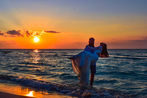 We as they were taking selfies on the beach in Varadero, moments after eloping.