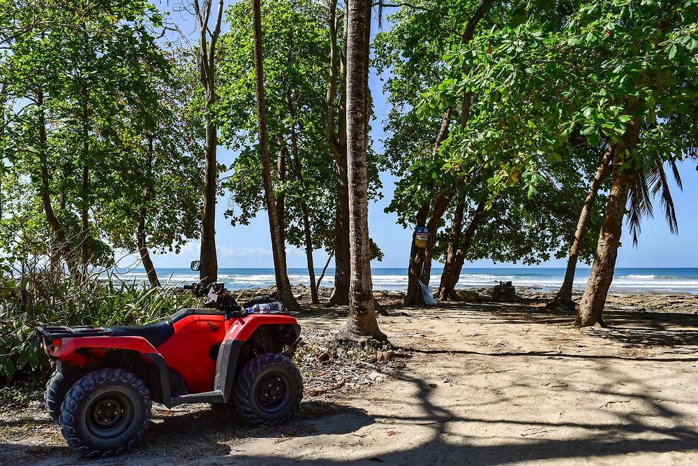 Atv ride to the beach