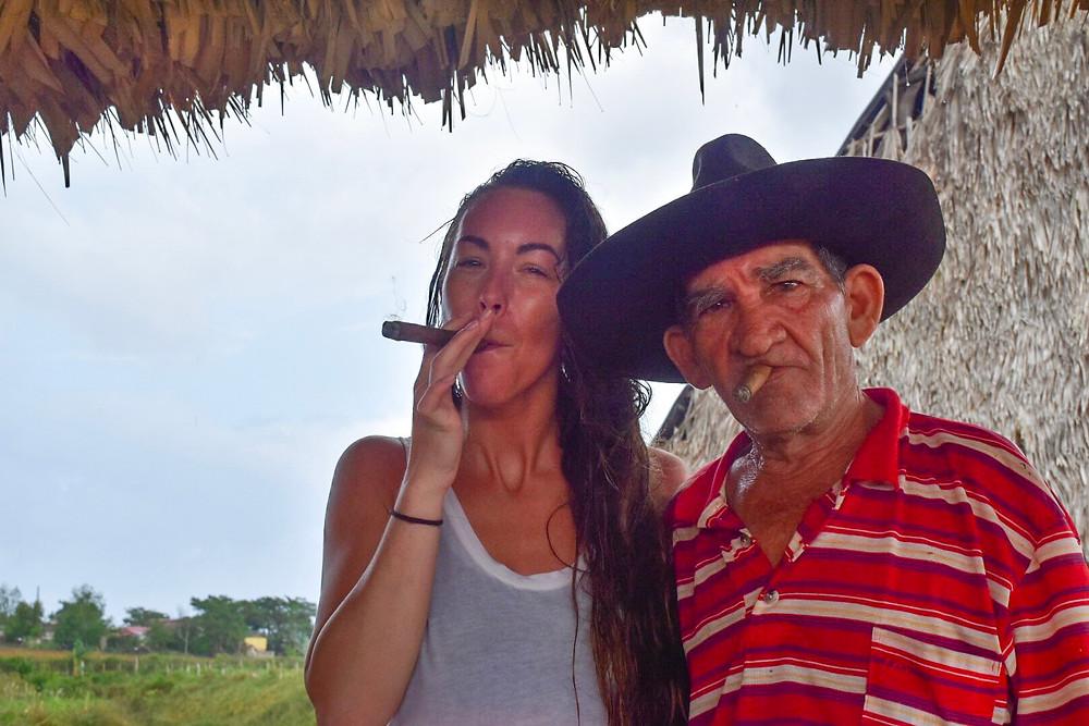 smoking cohibas