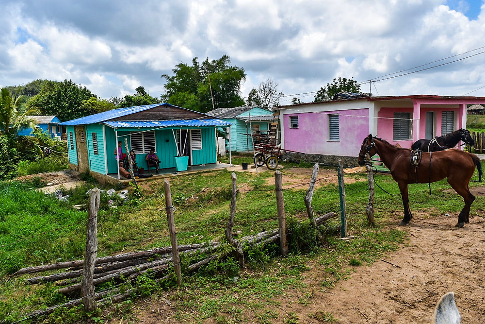 Colorful homes in Vinales, Cuba