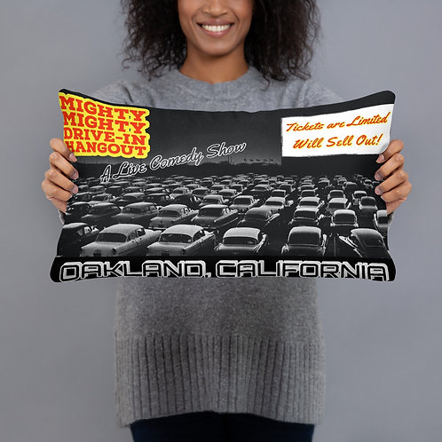 The Mighty Mighty Drive-In Hangout Comedy Show Throw Pillow