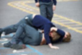 Children fighting school