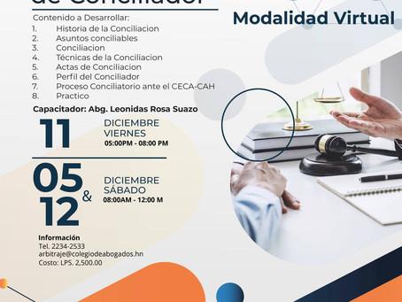 ¡ATENCIÓN! El Centro de Conciliación y Arbitraje del Colegio de Abogados de Honduras (CAH) invitan a
