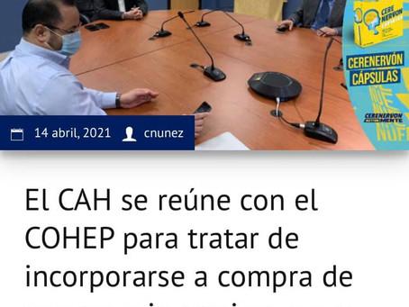 El CAH se reúne con el COHEP para tratar de incorporarse a compra de vacuna e inmunizar a sus afilia