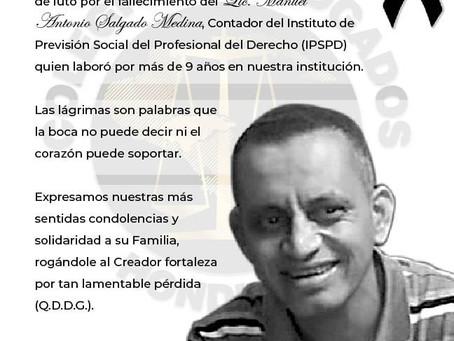 El Presidente del Colegio de Abogados de Honduras ,Abogado Fredis Cerrato, la Junta Directiva Nacion