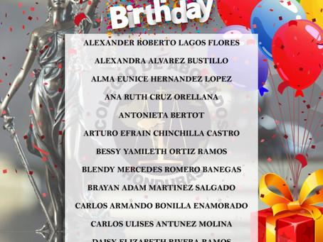¡El Colegio de Abogados de Honduras espera que hoy celebres en grande tu cumpleaños y que los festej