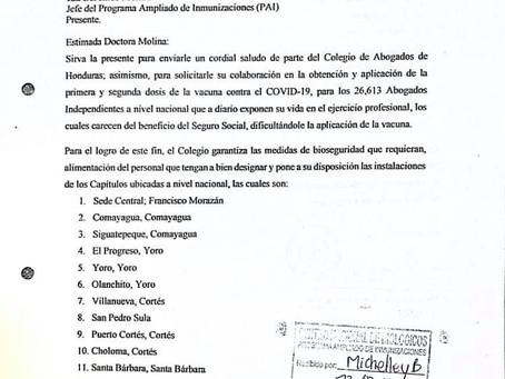 El Colegio de Abogados ha continuado haciendo gestiones para obtener la vacuna contra el Covid-19 pa