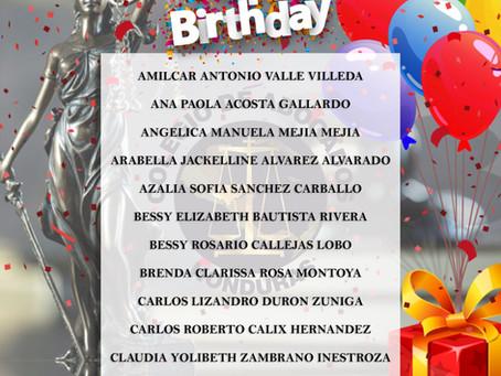 Felicidades abogados (as)  para el día de su cumpleaños y camina sereno a través de la vida sin renc