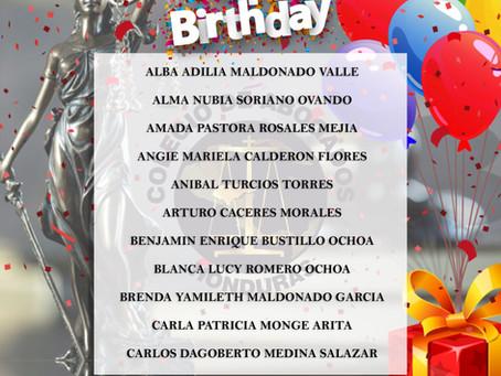 Con cariño y de todo corazón el Colegio de Abogados de Honduras desea que tu cumpleaños sea mágico y