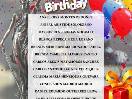 ¡Feliz cumpleaños abogados y abogadas! Que, en este día tan especial, Dios les bendiga con mucha fel