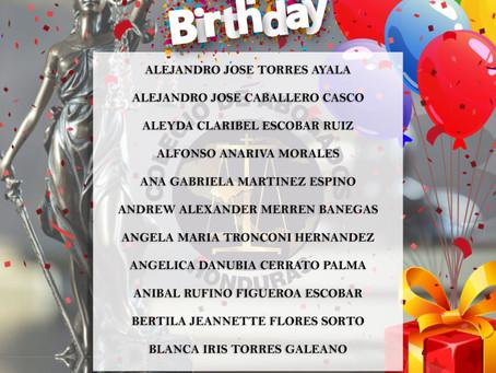 No podría olvidar el Colegio de Abogados una fecha tan importante, como lo es tu cumpleaños, te dese