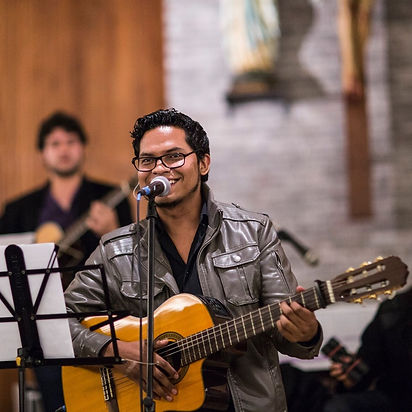 Performing in Ecuador