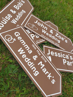 Personalised party signs