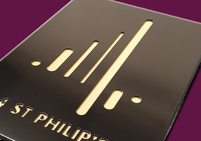Fabricated sign trays