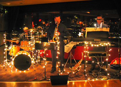 UpFront Band members: Steve Burpee (tenor sax, soprano sax, alto sax, flute), Robert Schultz (drums, percussion, cajon), Chris Bidleman (keyboards, piano, bass) can add other musicians like a bass, guitar to meet your budget for the wedding reception music