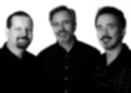 UpFront Band members: Steve Burpee (tenor and soprano sax), Robert Schultz (drums, cajon), Chris Bidleman (keyboards, piano) best wedding band, wedding ceremony, company party music and background music in Vancouver and Portland