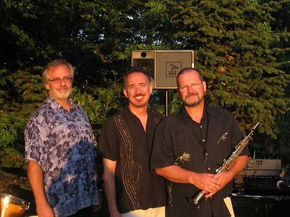 UpFront Band members-Steve Burpee (tenor sax, soprano sax, alto sax, flute), Robert Schultz (drums, percussion, cajon), Chris Bidleman (keyboards, piano, bass) can perform at private parties, wedding ceremonies, wedding receptions or other live music event