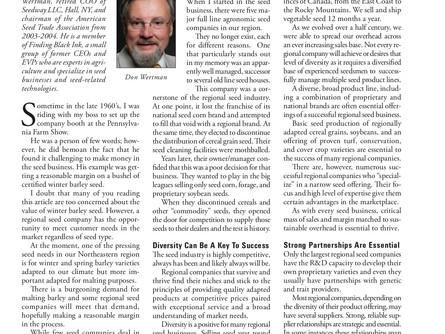FBI's Don Wertman: How Regional Seed Companies Can Thrive