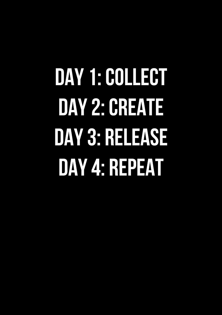 DAY 1_ COLLECT DAY 2_ CREATE DAY 3_ RELE