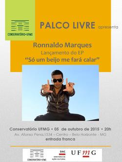 Flyer Palco Livre Ronnaldo Marques