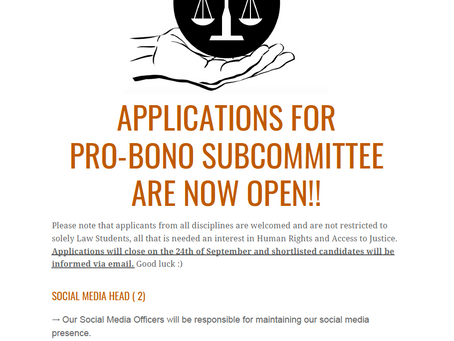 Pro-bono LSE: Subcommittee Applications are now open!