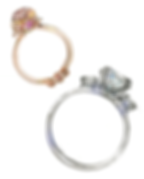 Tiffany wedding ring - gold - silver - diamond - illustration - Ben Liu