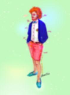 illustration, painting, fashion, Ben Liu, Montreal, Mtl, portrait, Montrealer, fashion, streetstyle, urbansketch, Ben Liu, French, roux, red hair, ginger, elegant, subway, metro, stm